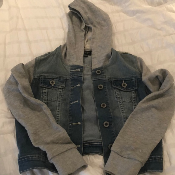 Denim hoddie sweater